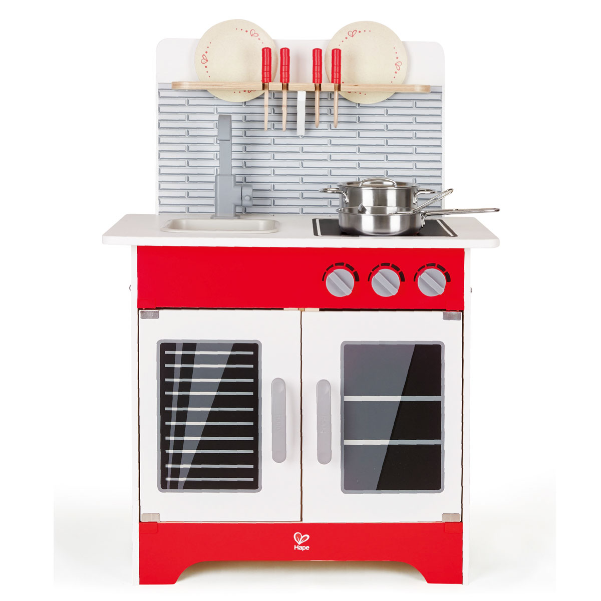 Hape kinderkuche stadtcafe spielkuche aus holz e3144 for Hape kinderküche
