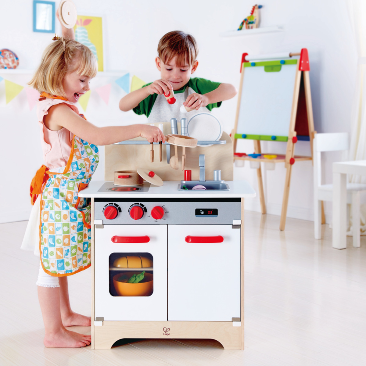hape white gourmet chef kitchen with accessories hape gourmet kitchen white e3152 9231