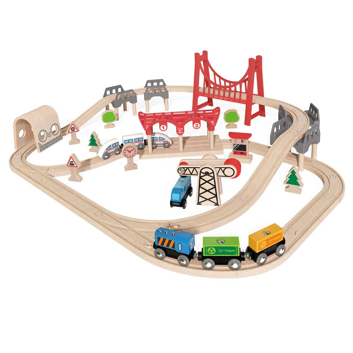 Hape Double Loop Railway Set E3712 Pirum