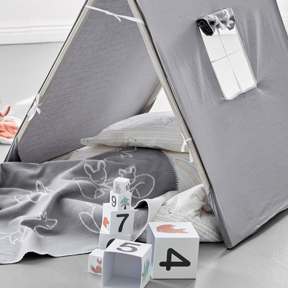 kids concept zelt x grau aus stoff und holz 201935 pirum. Black Bedroom Furniture Sets. Home Design Ideas