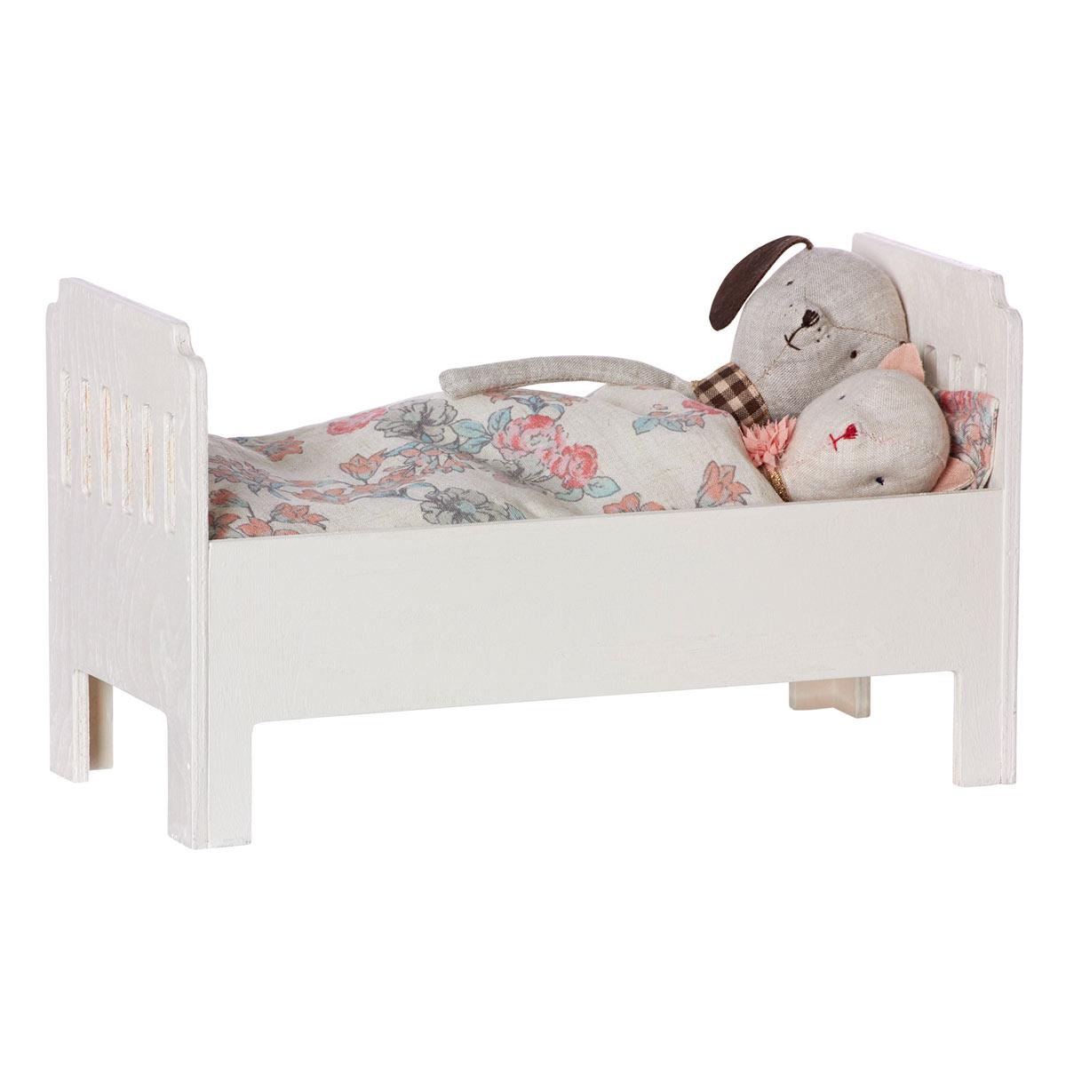 Puppen & Zubehör 211 Puppenstube Puppenmöbel Kinderbett mit 3 Babypuppen Babypuppen & Zubehör