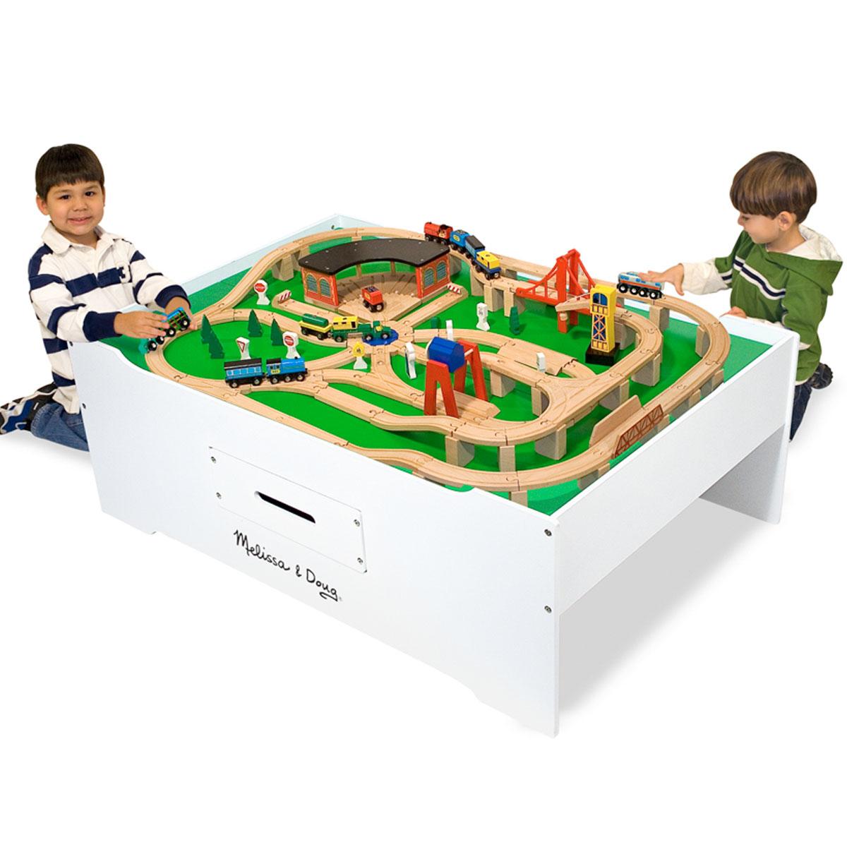 Spieltisch Eisenbahn doug multiaktivitäten spieltisch 12371 aus holz