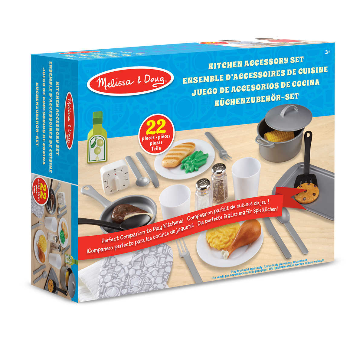 melissa and doug wooden kitchen accessory set amp doug kitchen accessory play set 19304 pirum 9896