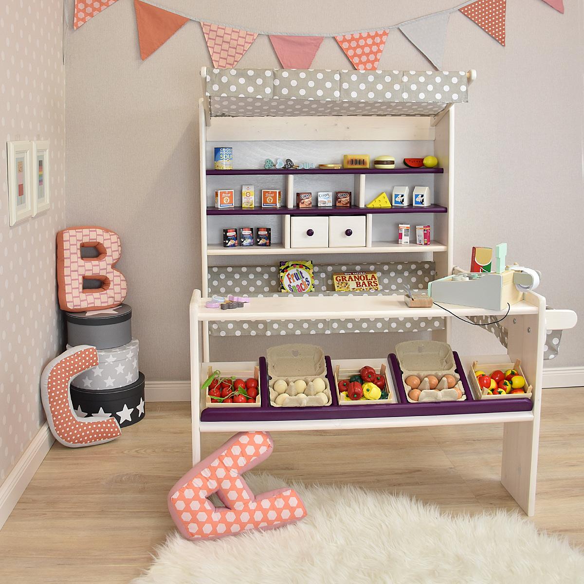 kaufladen aus holz amelie von pinolino kaufl den preiswert kaufen. Black Bedroom Furniture Sets. Home Design Ideas