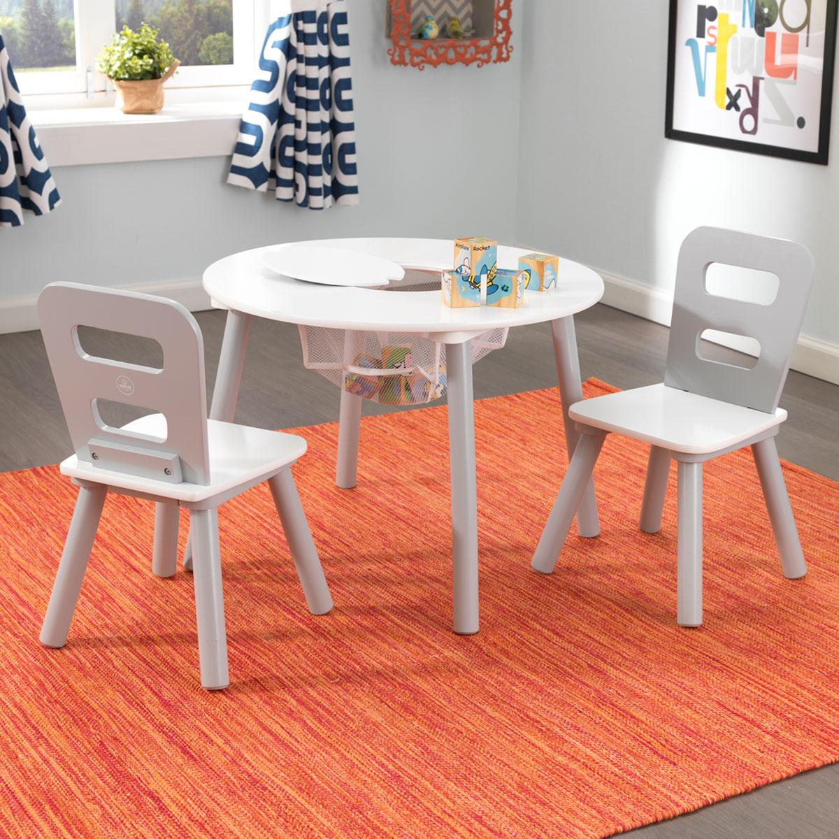 set with bins toy and en table chair d us heart kidkraft pastel