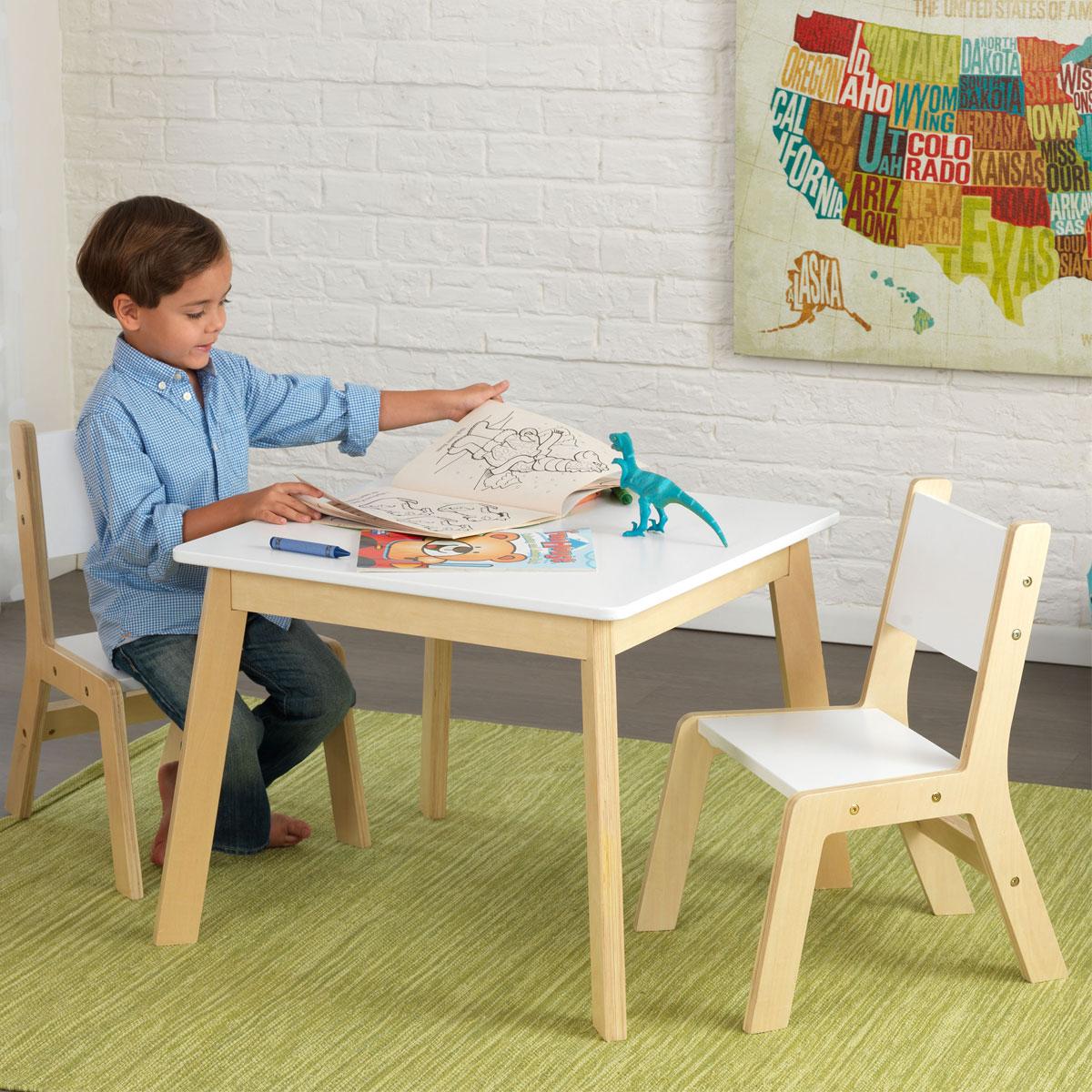 Kidkraft tavolo moderno con due sedie 27025 giocattoli - Tavolo con sedie frozen ...