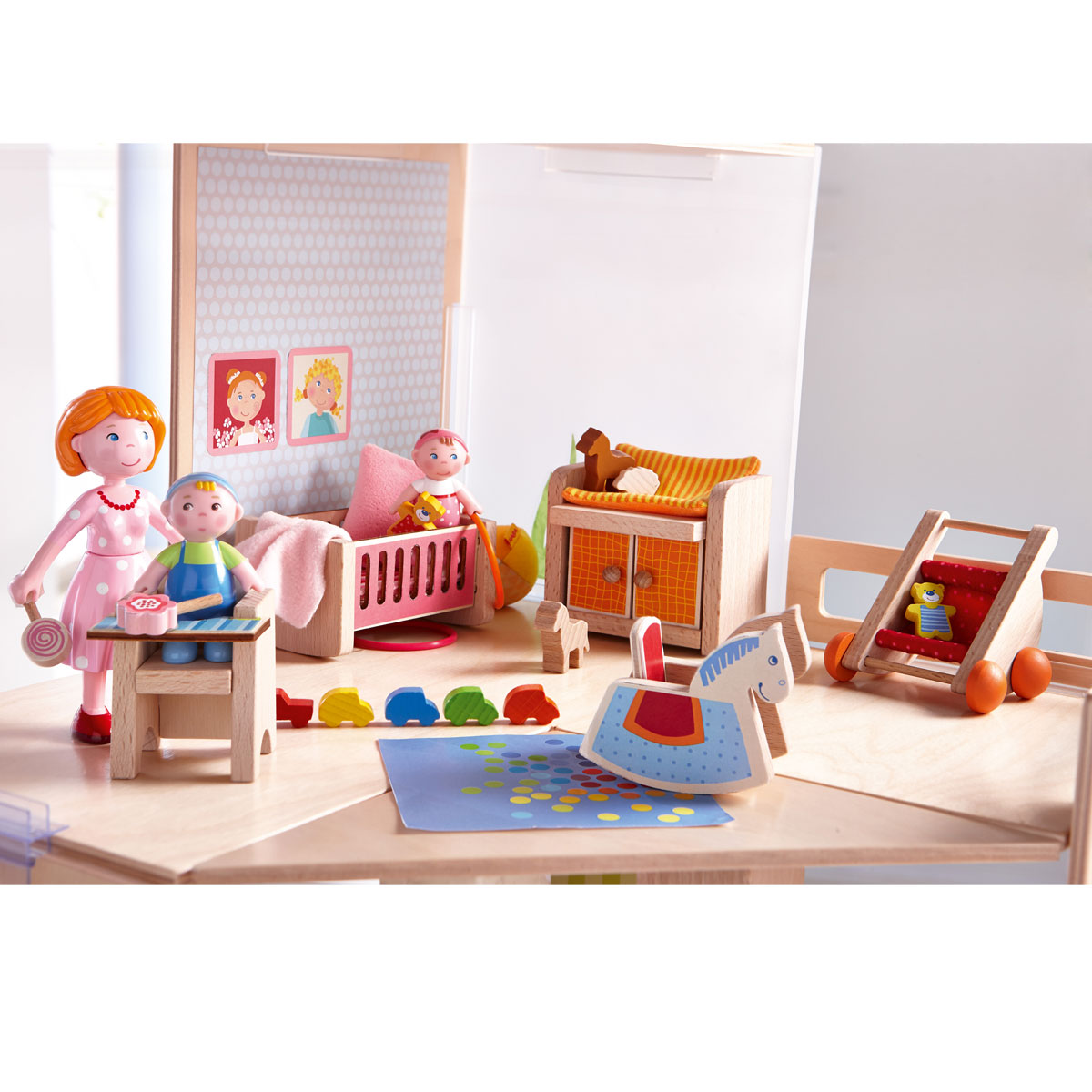 Haba little friends puppenhausm bel kinderzimmer aus for Kinderzimmer ab 3