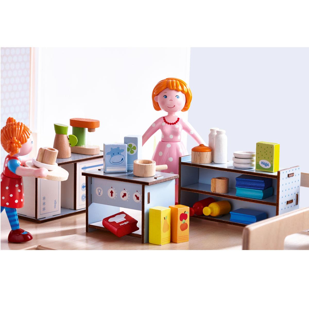 Haba little friends accessori per casa di bambole cucina - Cucina per casa ...