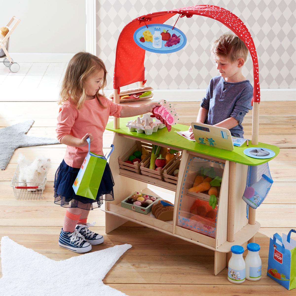 haba kaufladen einkaufsgl ck aus holz 302087 pirum. Black Bedroom Furniture Sets. Home Design Ideas