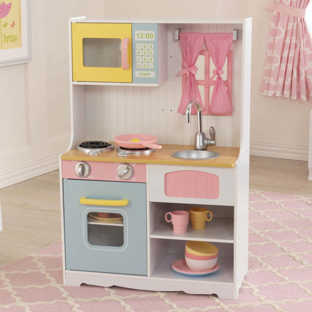 kidkraft pastell landküche aus holz - 53354 - pirum - Land Küche
