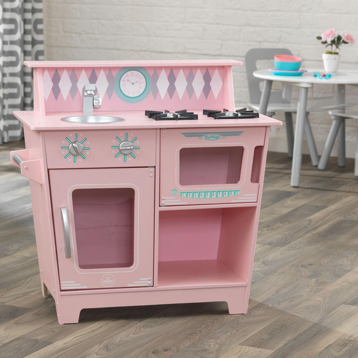 Küchenzeile Draußen ~ kidkraft klassische küchenzeile pink aus holz 5