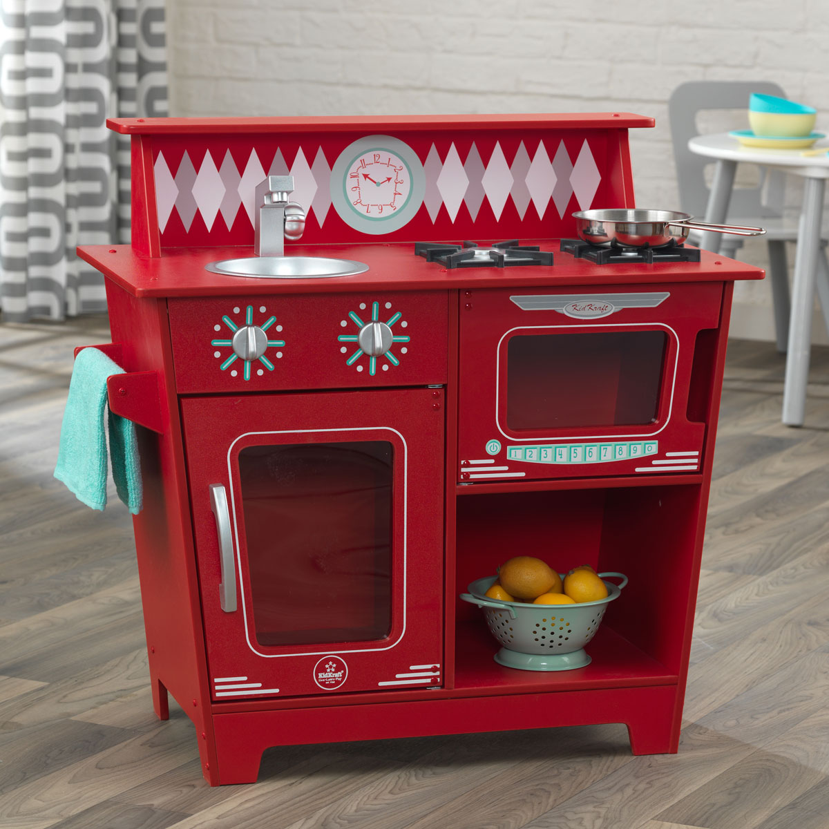 Kidkraft petite cuisine classique rouge 53362 pirum - Petite cuisine rouge ...