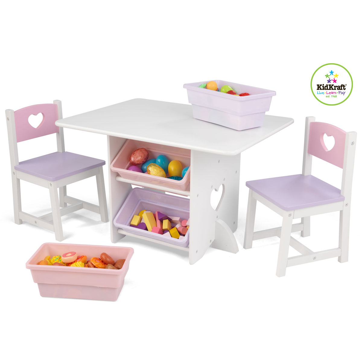 Kidkraft 26913 Heart, Set Tavolo e sedia per bambini con ...