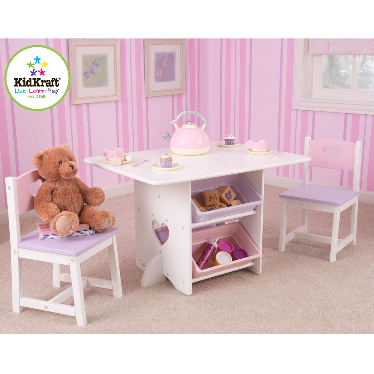Kidkraft 26913 heart set tavolo e sedia per bambini con for Tavolino e sedia montessori