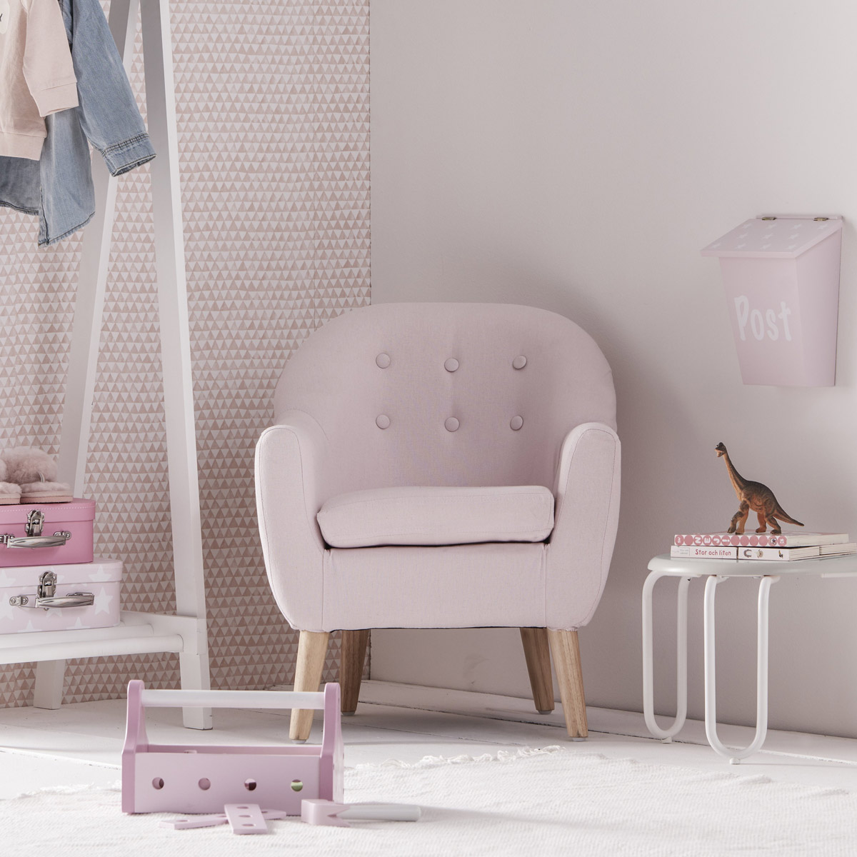 Kids Concept Sessel Rosa Furs Kinderzimmer 720093 Pirum