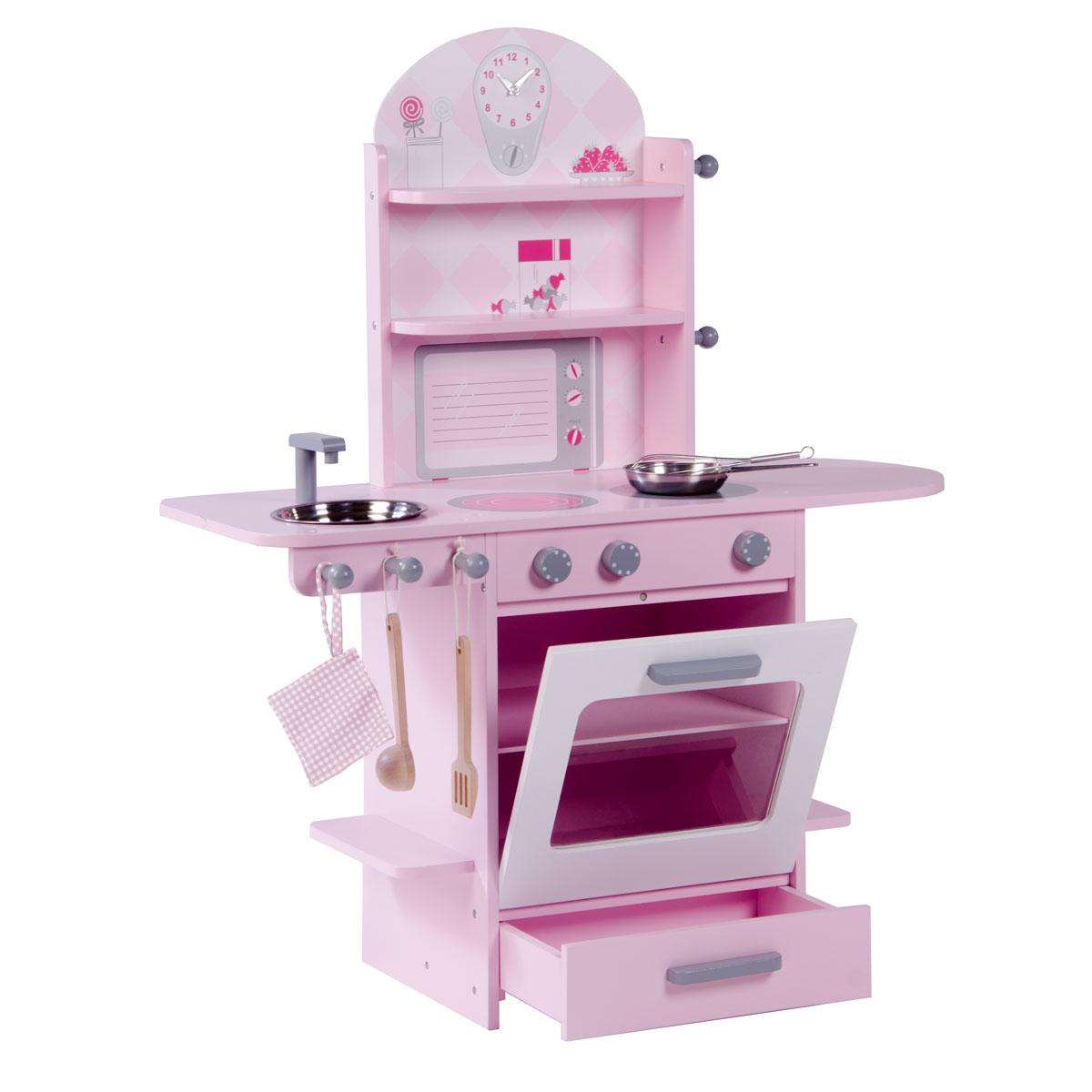Cucina in legno roba resistente e colore rosa giocattoli - Cocina rosa ...