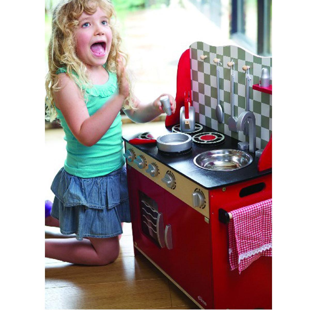 Tidlo Kleine rustikale Küche T-0148 aus Holz - Pirum