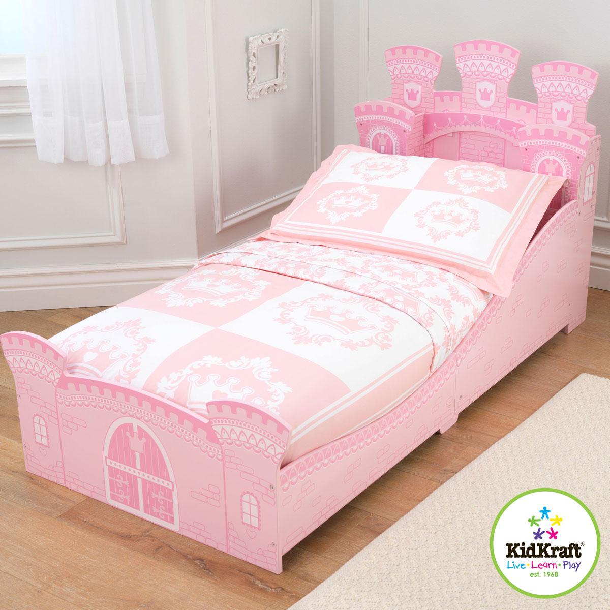 Kidkraft princess castle toddler bed 76278 for Camas grandes