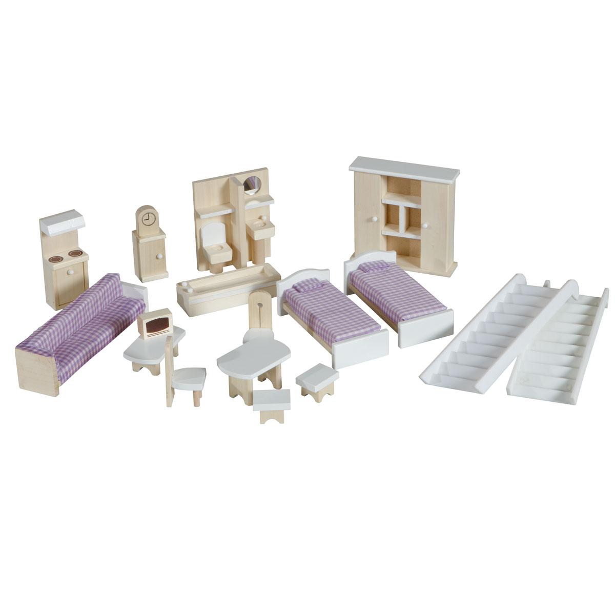 Roba 9462 puppenhaus aus holz inklusive puppenhausmöbel