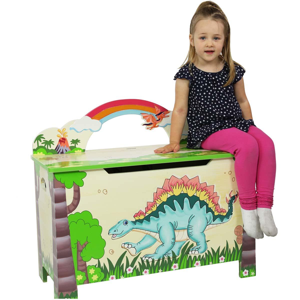 Teamson cassapanca portaoggetti dinosauri giocattoli di for Cassapanca x bambini
