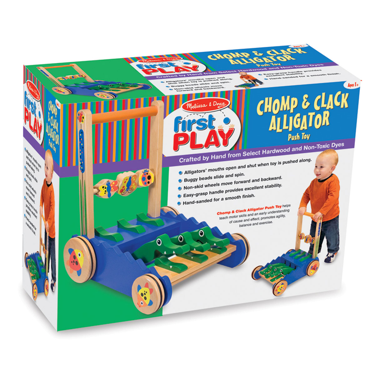 Melissa Doug Toys : Melissa doug chomp clack alligator push toy