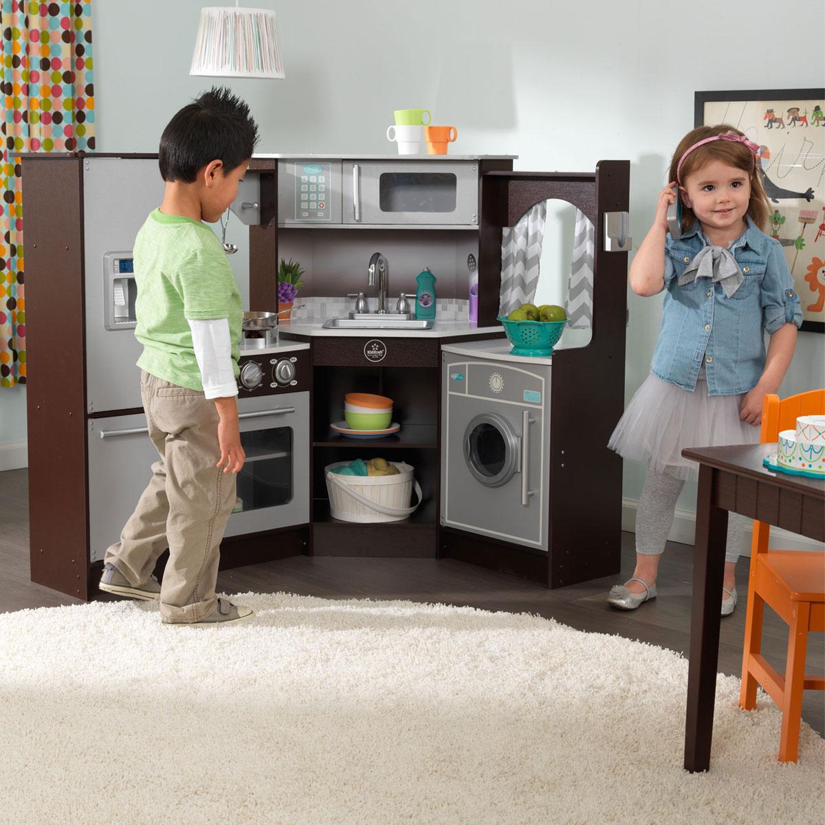 KidKraft Ulitmate Corner Play Kitchen w/lights and sounds - 53365