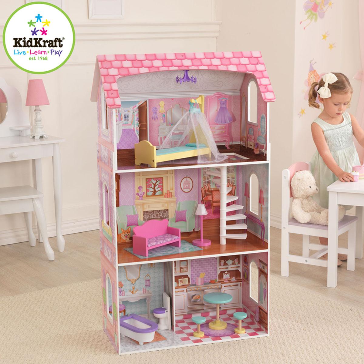 kidkraft puppenhaus penelope 65179 pirum holzspielzeuge. Black Bedroom Furniture Sets. Home Design Ideas
