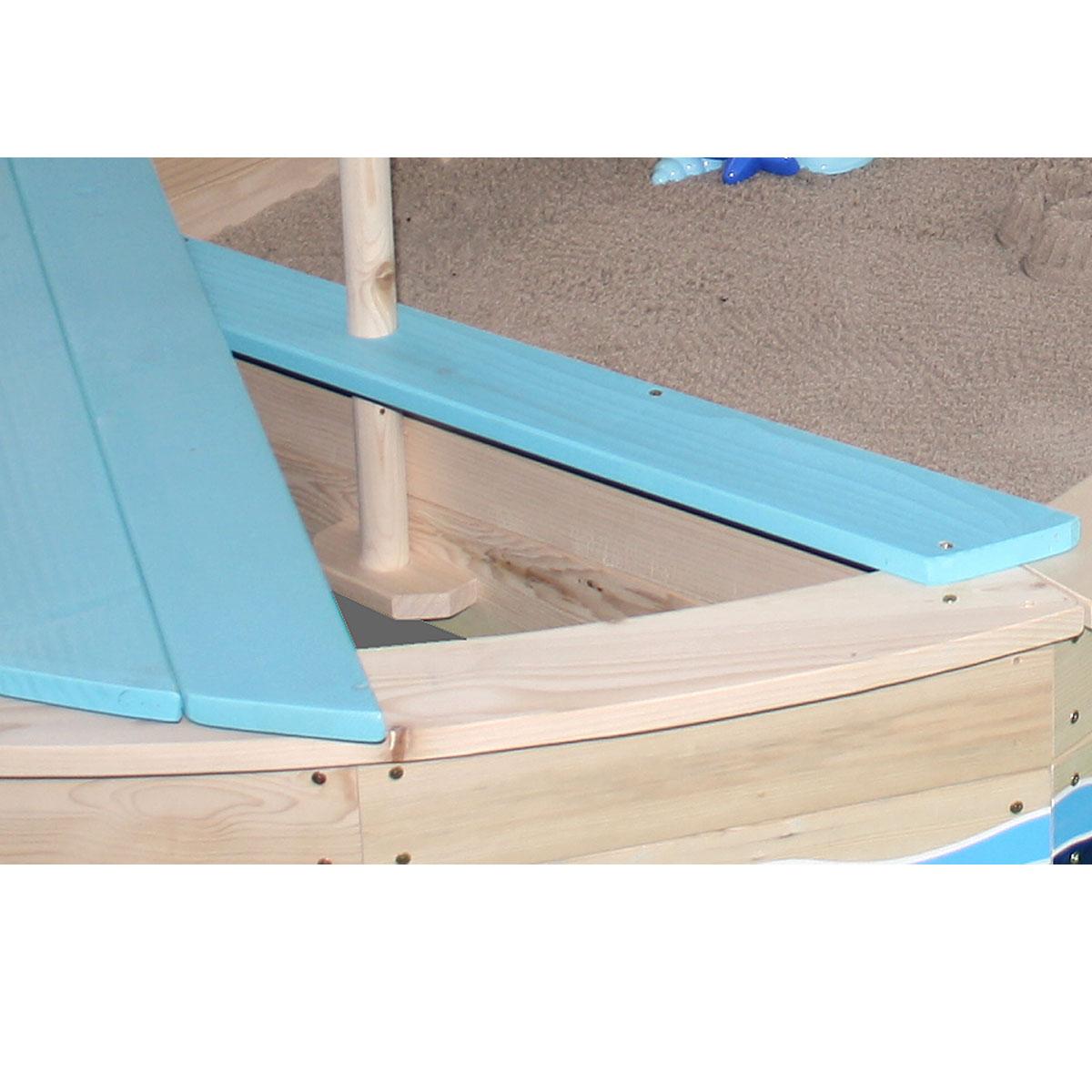 sun sandkasten sternen schiff aus holz 06017 pirum. Black Bedroom Furniture Sets. Home Design Ideas