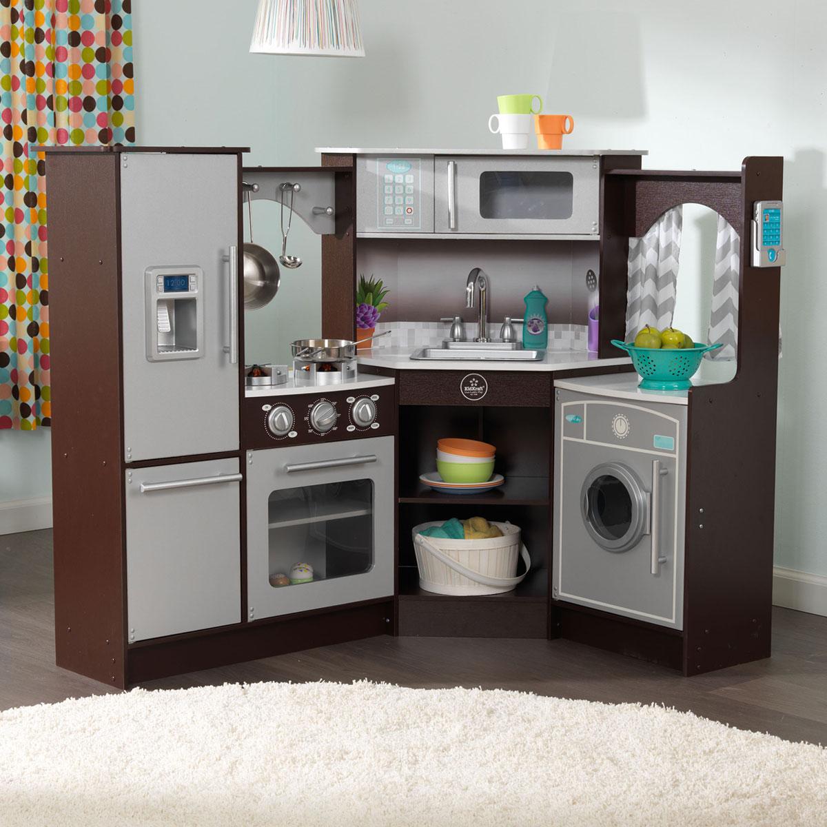 kidkraft ultimative eck spielk che mit licht sound aus holz 53365. Black Bedroom Furniture Sets. Home Design Ideas