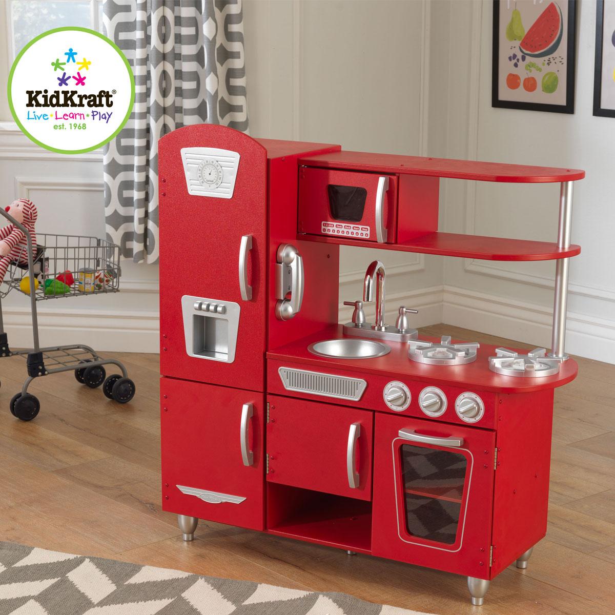 kidkraft cuisine vintage rouge 53173
