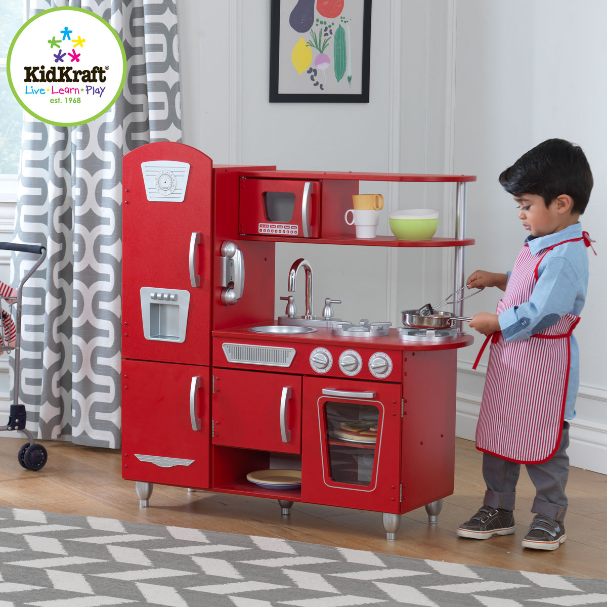 Red Vintage Kitchen 53173