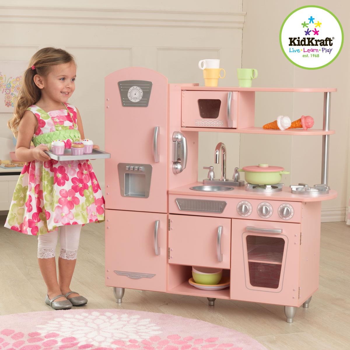 Kidkraft cucina vintage rosa 53179 - Cocina rosa ...