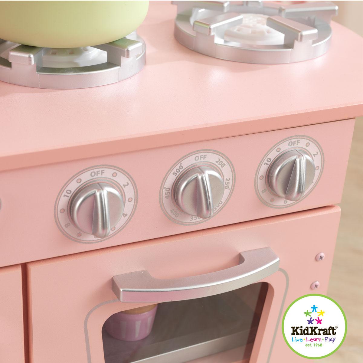 Kidkraft Cocina Estilo Retro Color Rosa 53179