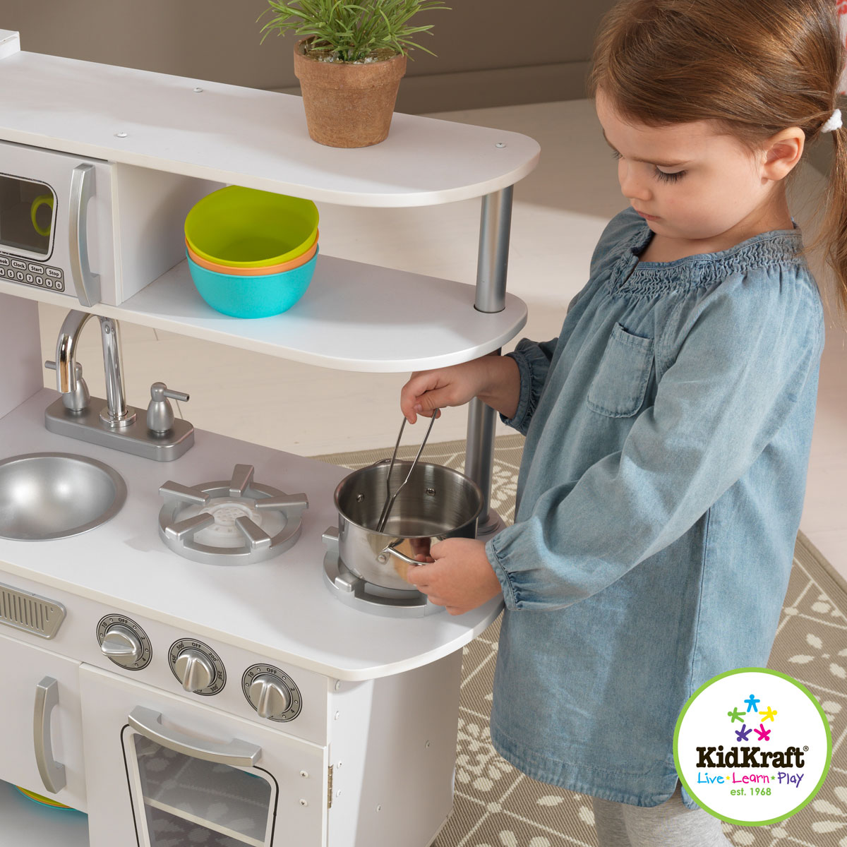 Cocina Retro 53208 Color Estilo Blanco Kidkraft WHI9ED2