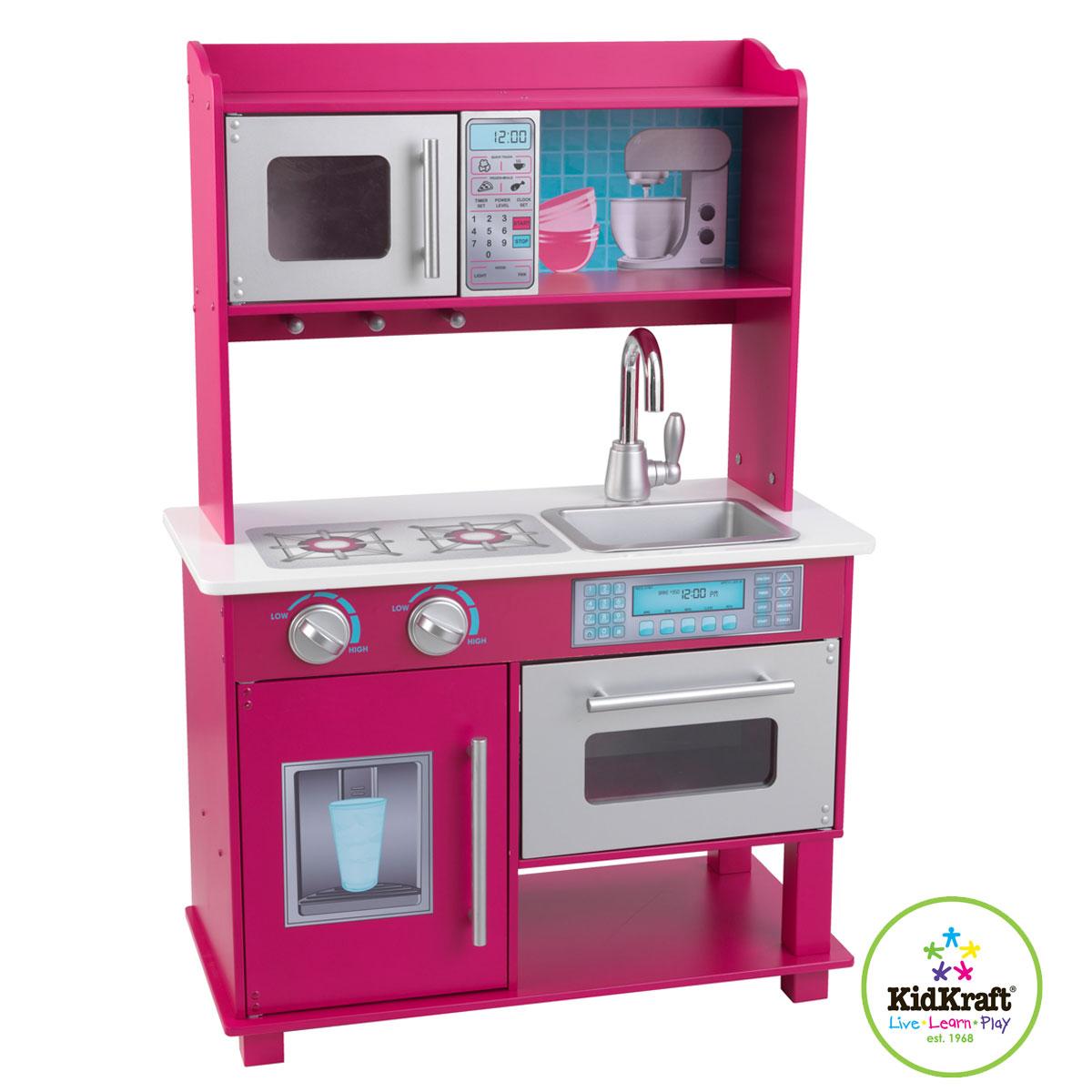 Kidkraft kuchnia dla dzieci gracie 53277 for Cuisine en bois kidkraft