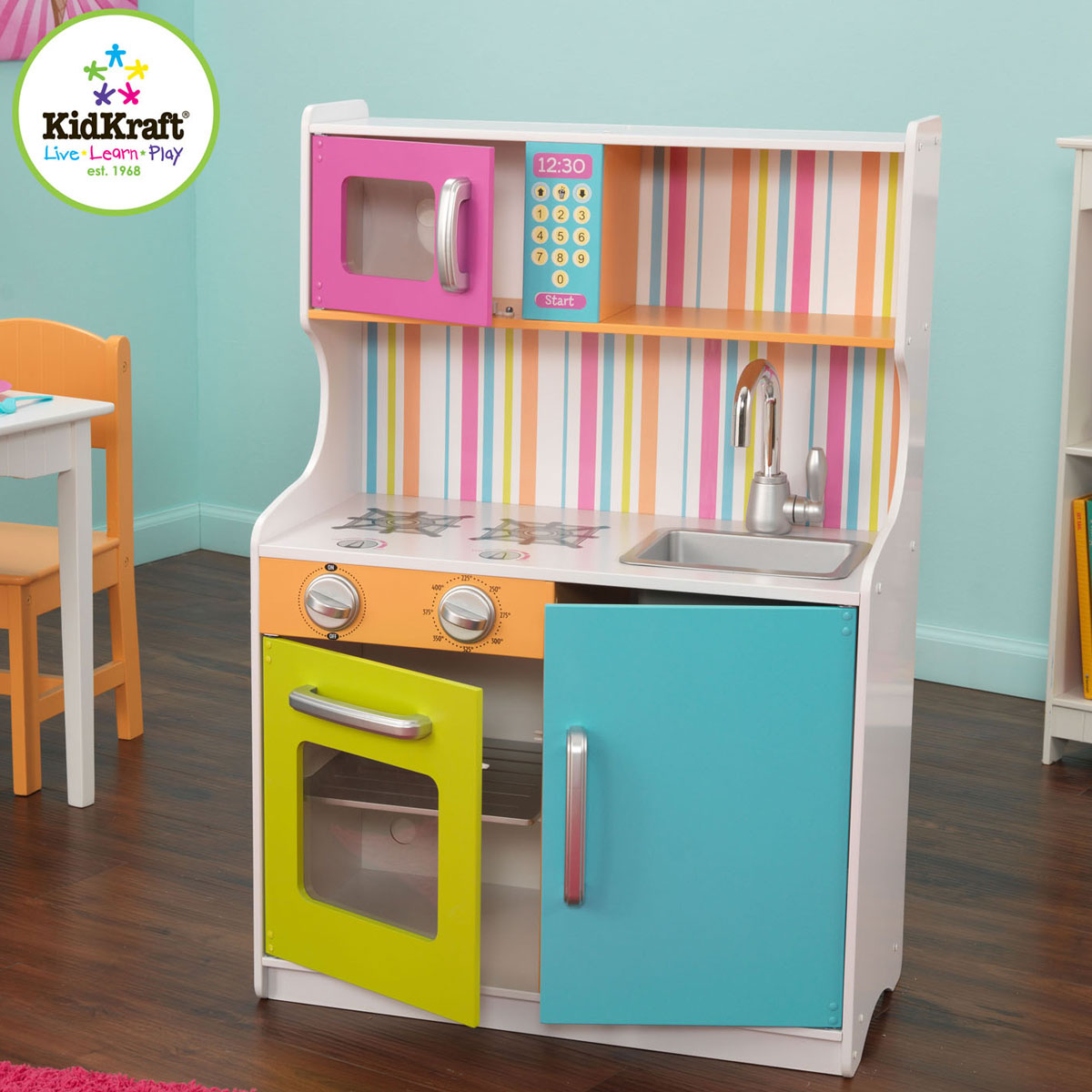 bright toddler kitchen 53294