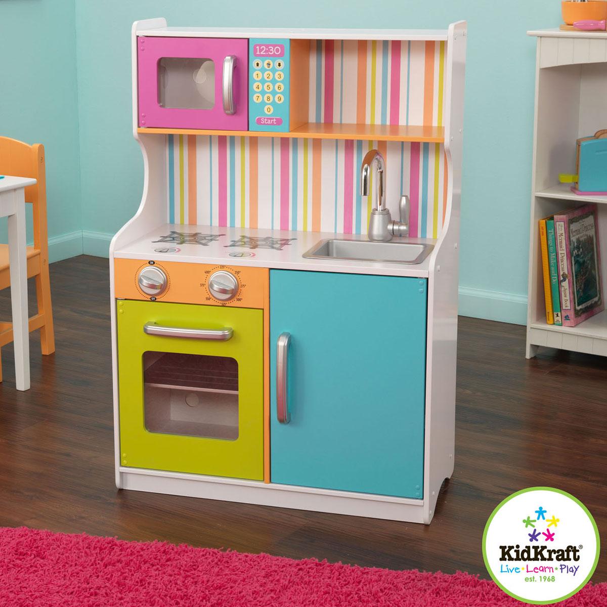 kidkraft cuisine aux couleurs vives 53294. Black Bedroom Furniture Sets. Home Design Ideas