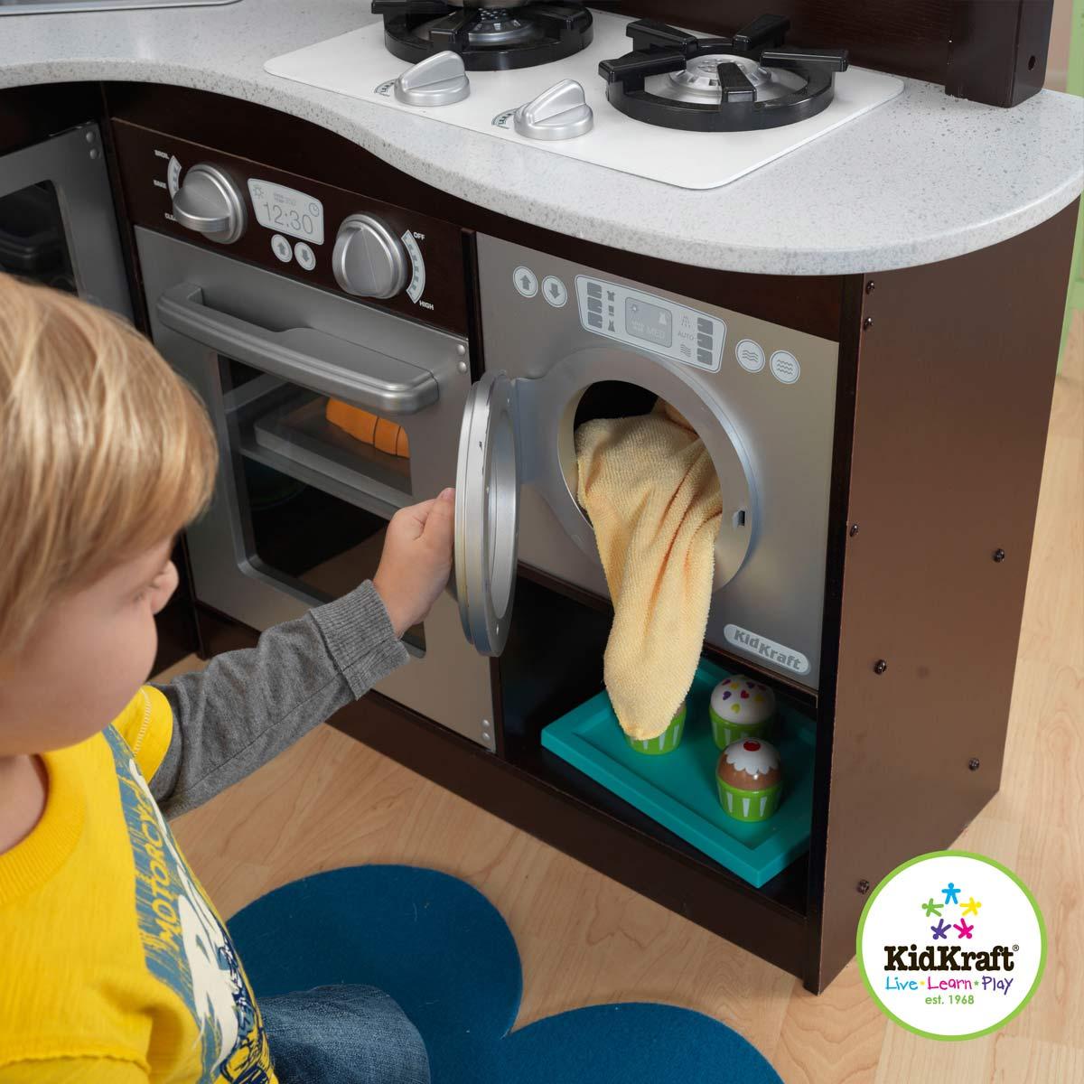 kidkraft espresso grand gourmet kitchen 53302. Black Bedroom Furniture Sets. Home Design Ideas