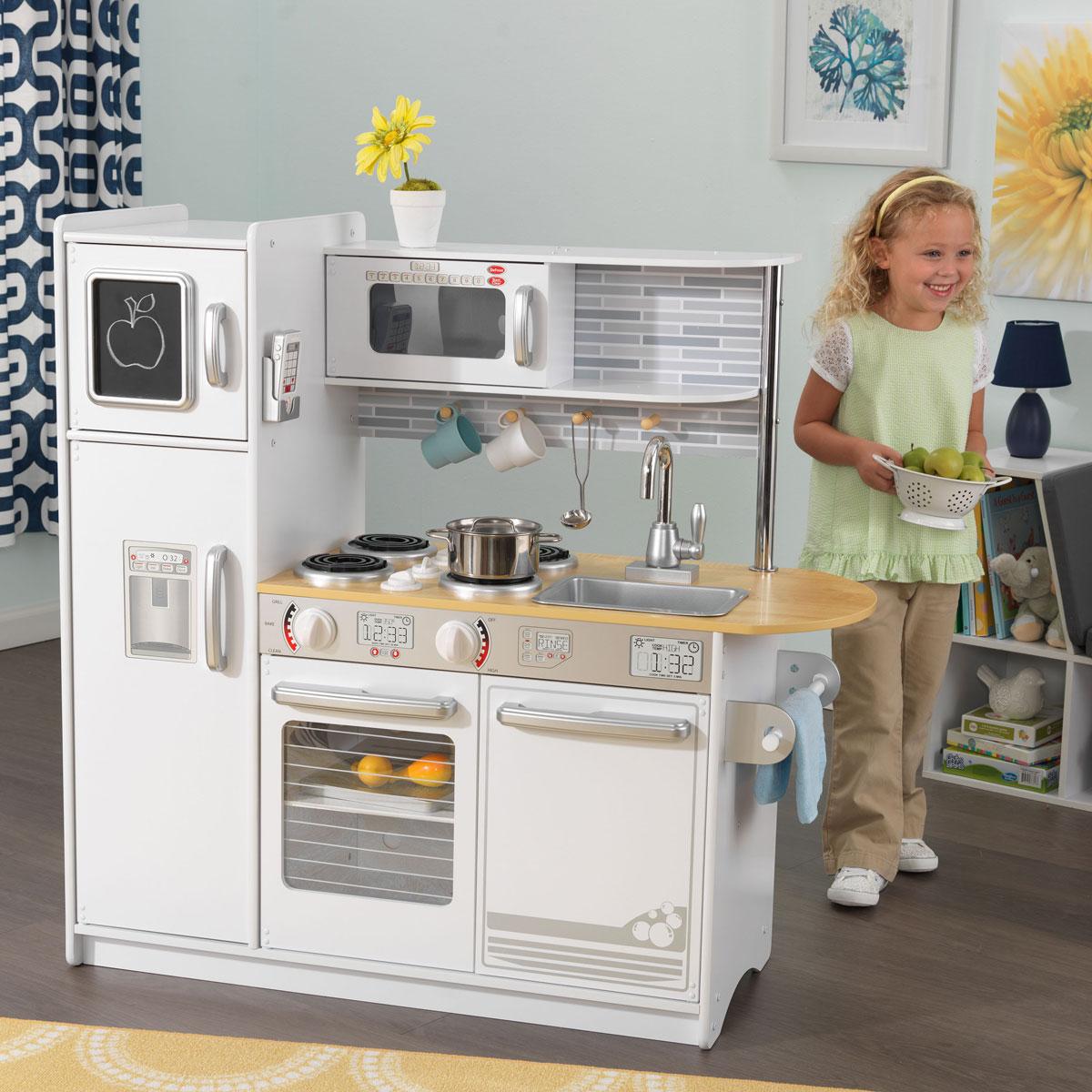 Kidkraft White Kitchen: KidKraft Uptown White Kitchen 53335