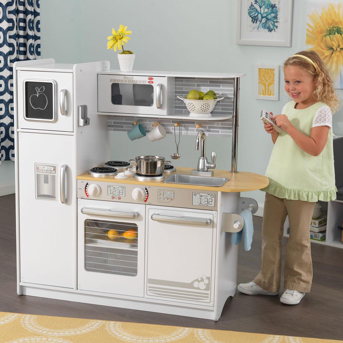 kidkraft uptown white kitchen 53335