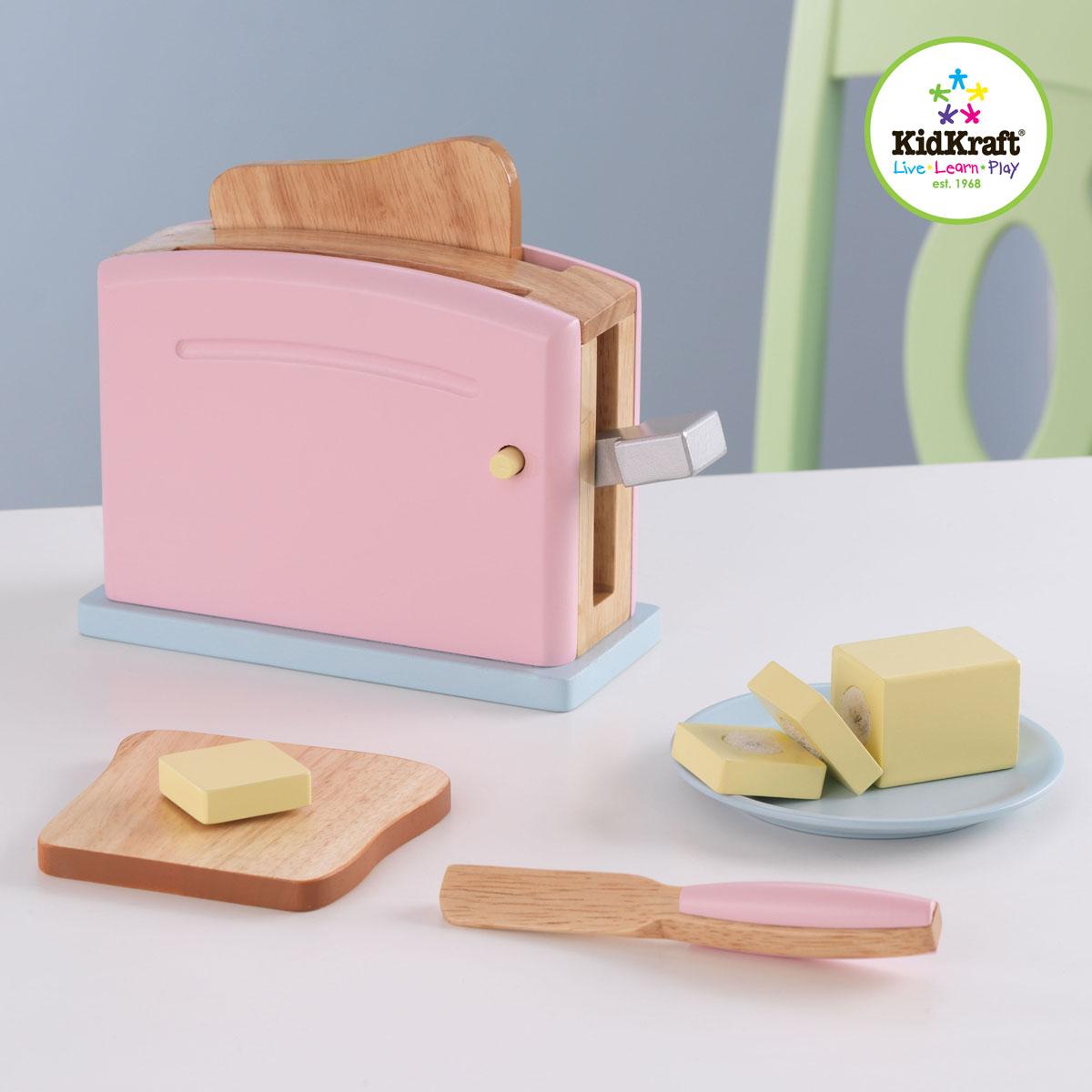 Kidkraft 63162 Toaster in Pastellfarben | Pirum-Holzspielzeuge.de