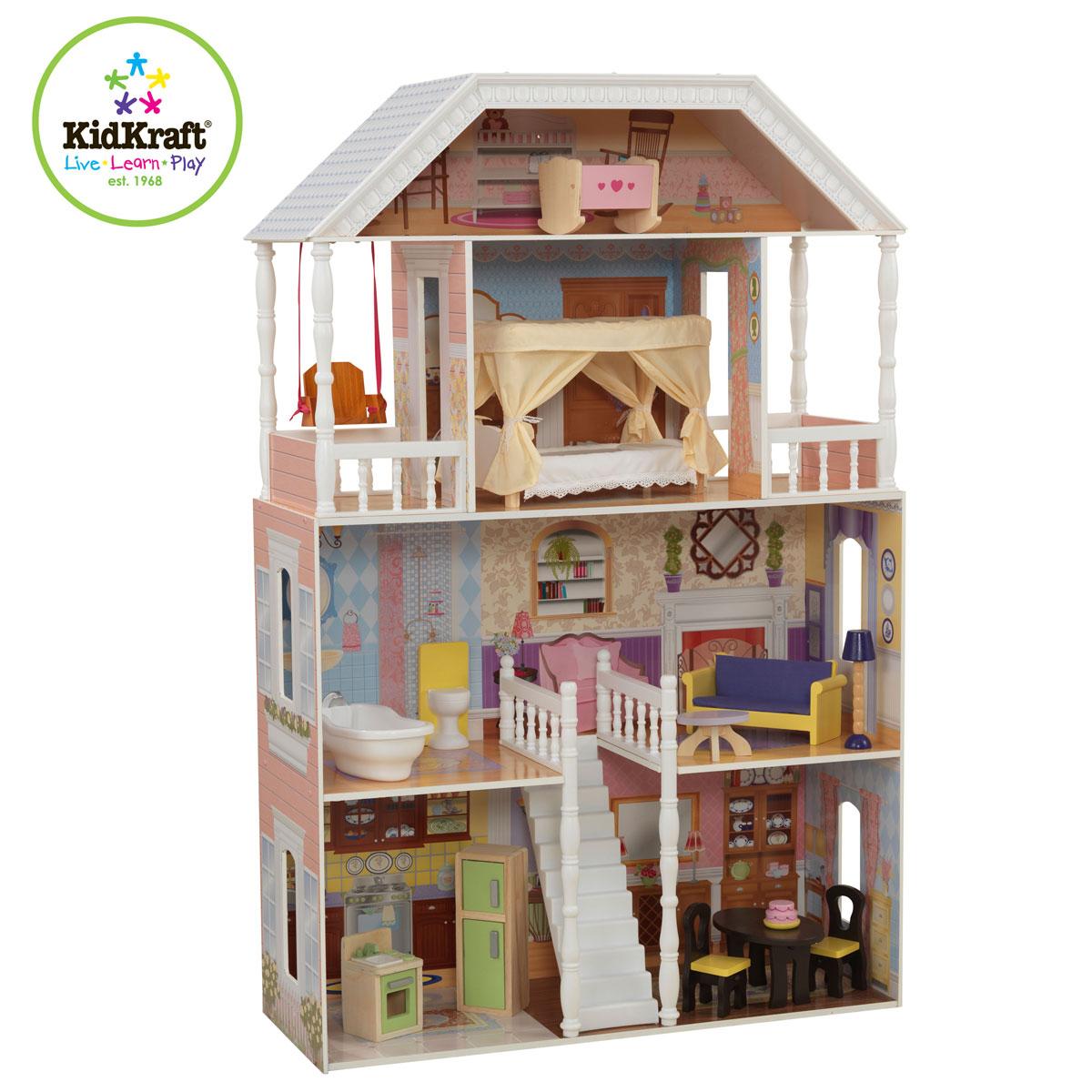 Groses Puppenhaus Aus Holz Von Eichhorn ~ Kidkraft Puppenhaus Savannah 65023 aus Holz