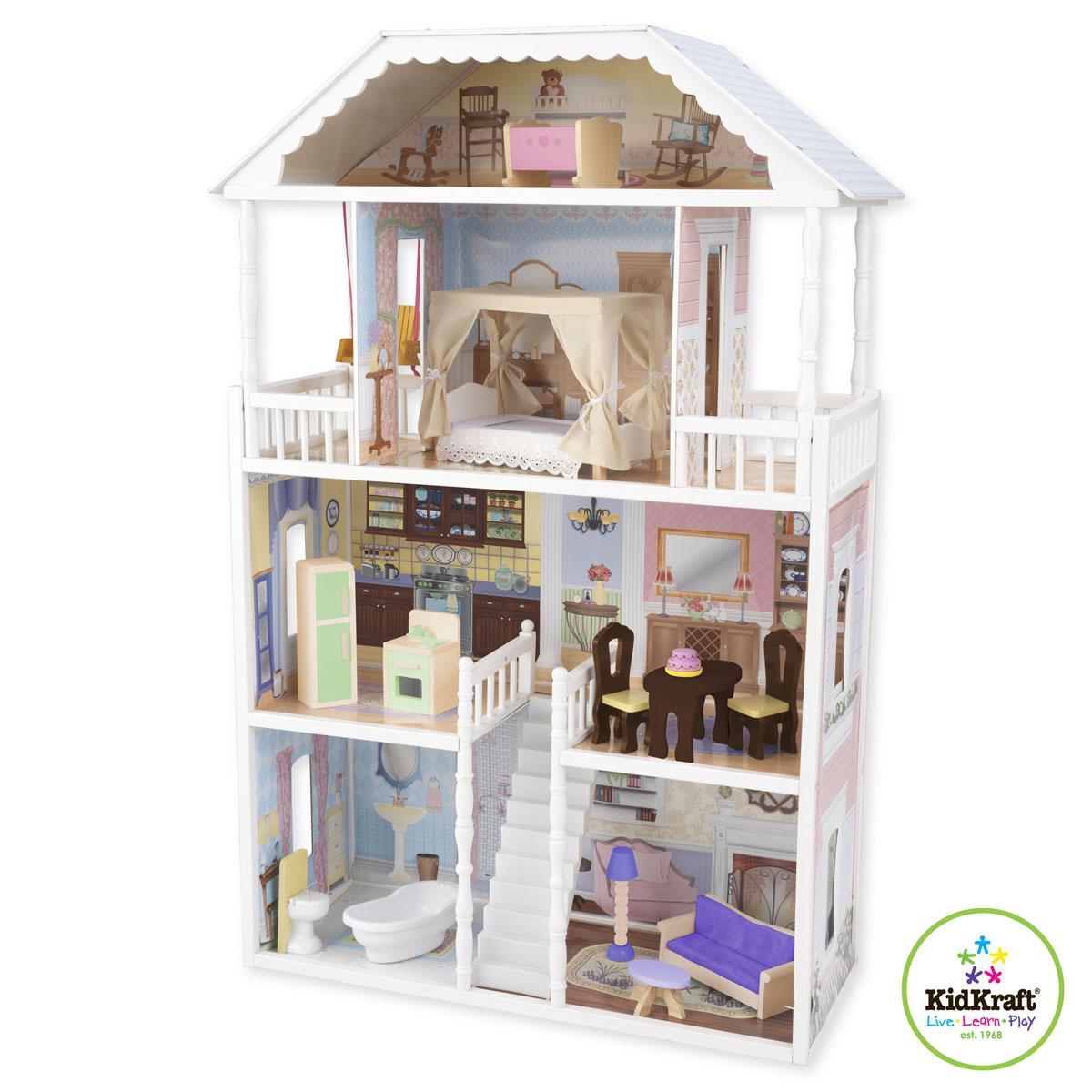 kidkraft puppenhaus savannah 65023 aus holz. Black Bedroom Furniture Sets. Home Design Ideas