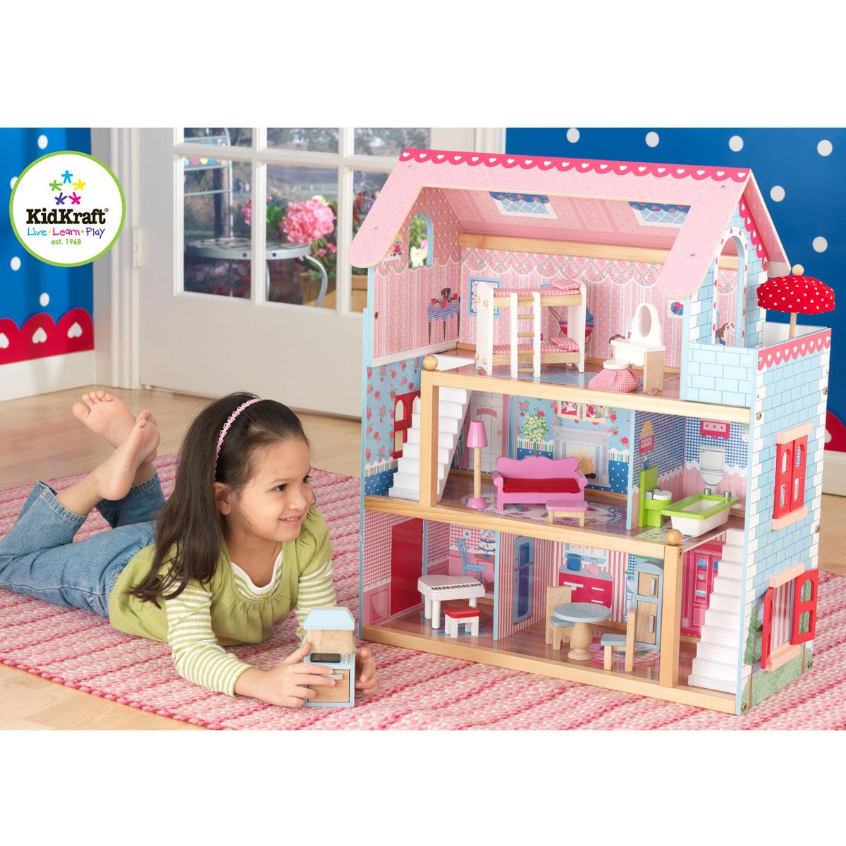 kidkraft chelsea doll cottage 65054 pirum rh pirum holzspielzeuge de chelsea doll cottage with furniture chelsea doll cottage instructions
