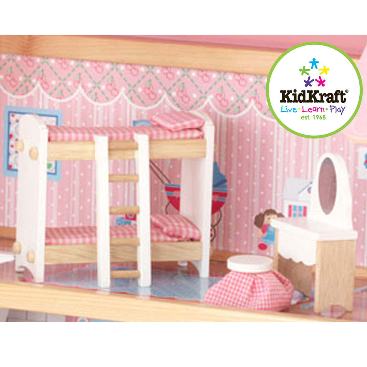Kidkraft chelsea doll cottage kidkraft chelsea doll for Affordable furniture greece ny