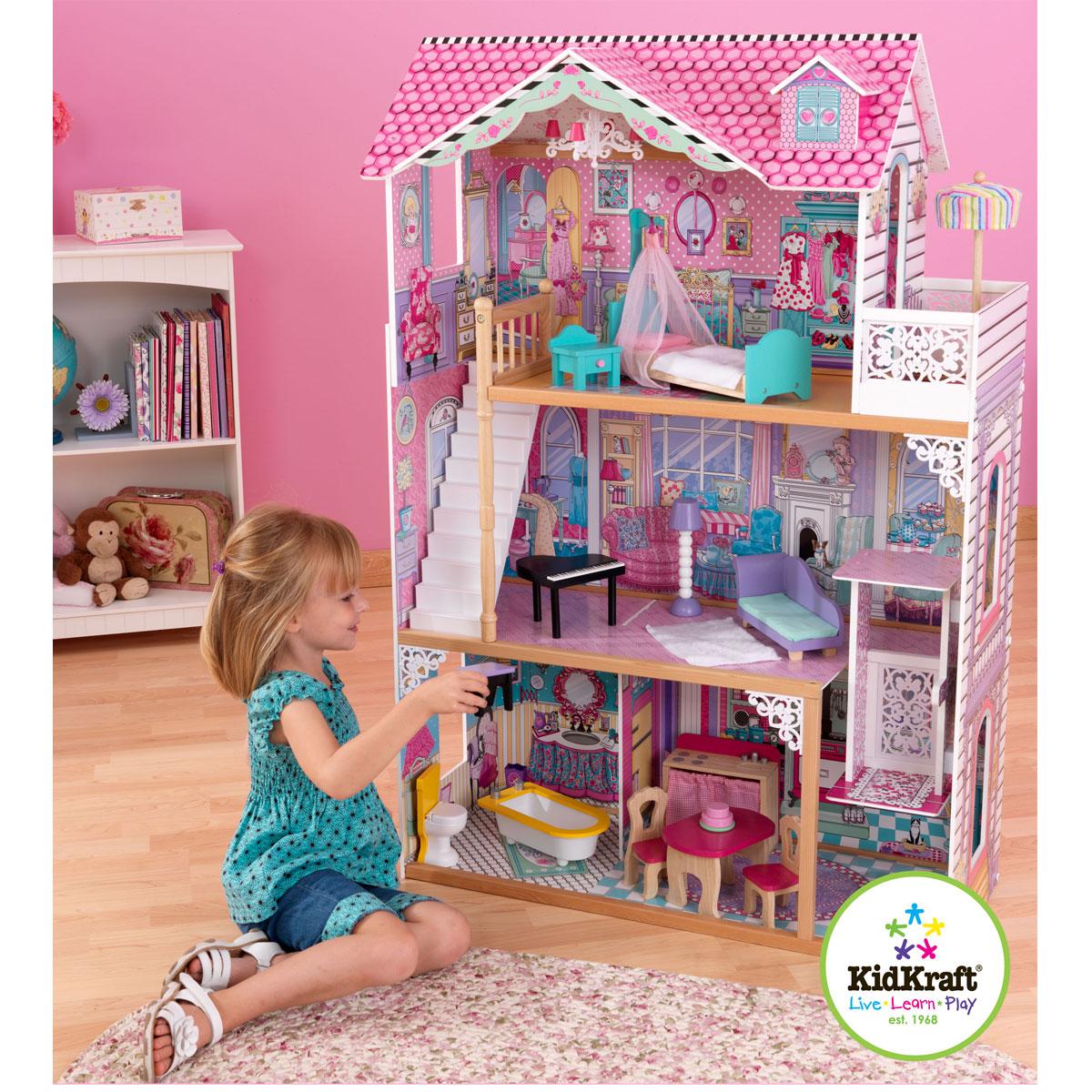 kidkraft maison de poupee annabelle 65079. Black Bedroom Furniture Sets. Home Design Ideas