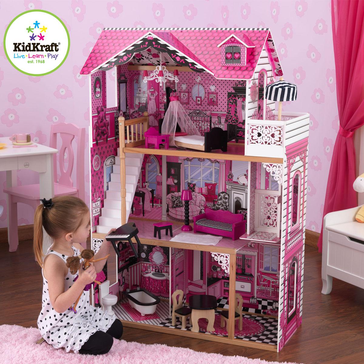 kidkraft puppenhaus amelia 65093 aus holz pirum. Black Bedroom Furniture Sets. Home Design Ideas