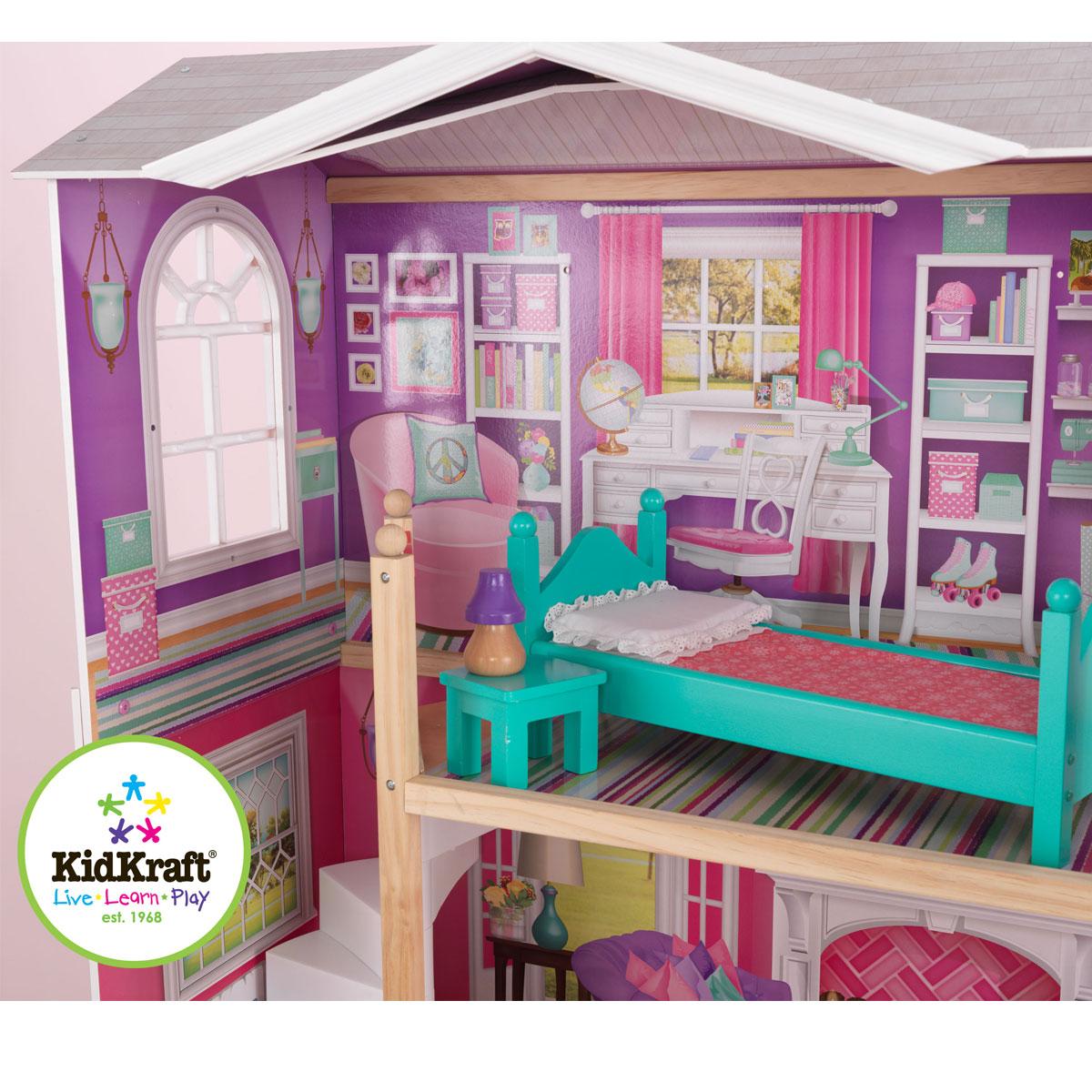 kidkraft puppenhaus aus holz elegantes herrenhaus 65830. Black Bedroom Furniture Sets. Home Design Ideas