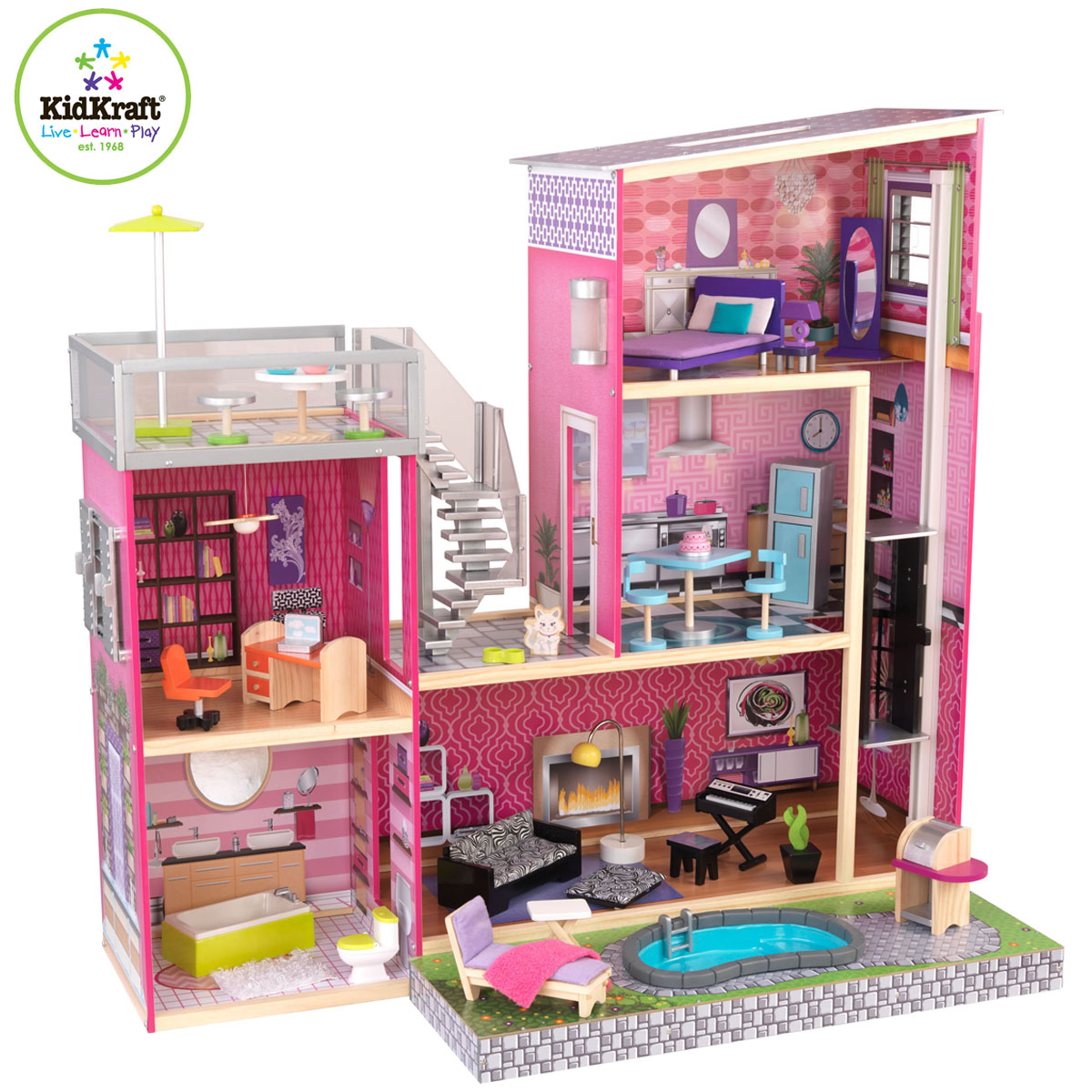 Favoloso KidKraft 65833 - Casa delle Bambole Uptown con piscina VR47