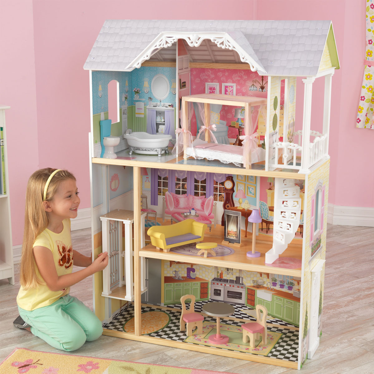 kidkraft puppenhaus kaylee 65251 pirum. Black Bedroom Furniture Sets. Home Design Ideas